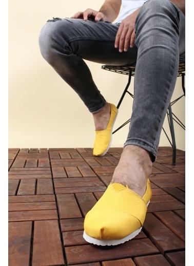 Oksit Tm 2020 Düz Keten Erkek Çarık Sarı